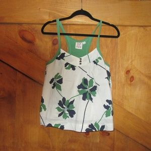 Roxy- Green and Floral Racer Back